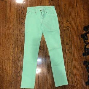 Pants - Mint green jeans